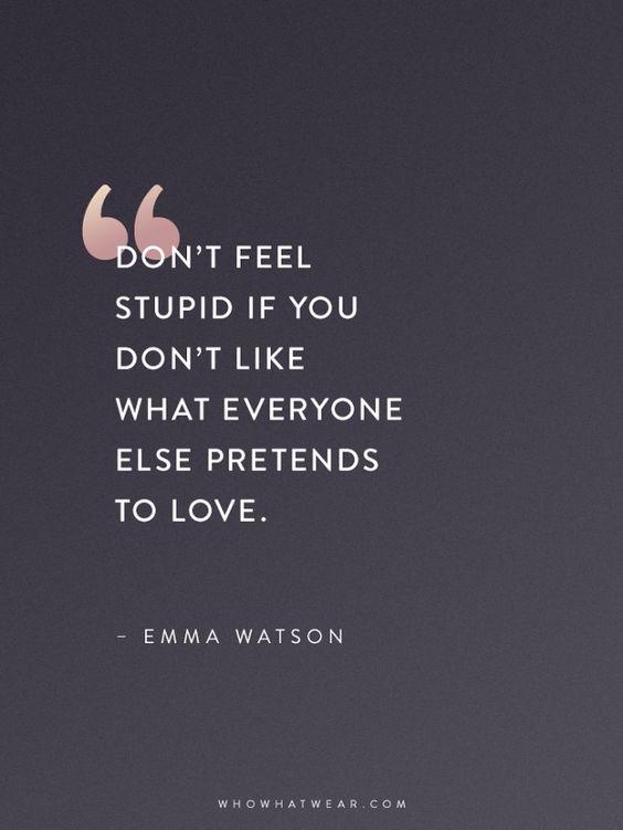Don't feel stupid