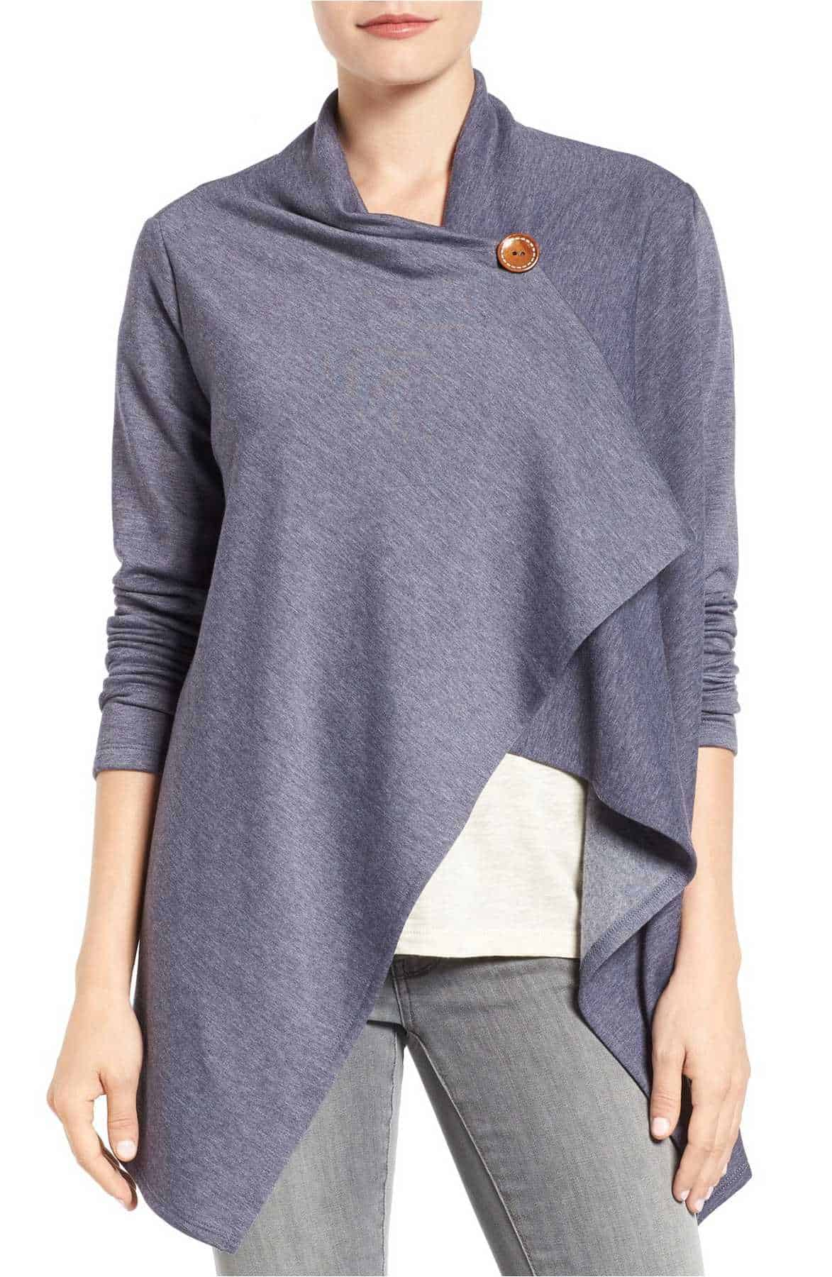 This one button fleece cardigan is the perfect gift for any woman!