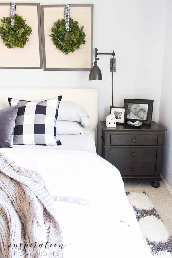 Welcome to a neutral Christmas Home tour full of black, white and just a tiny hint of red.