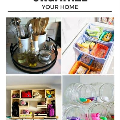 January is a great time to start clean. Discover twelve creative ideas to help you organize your home fast!