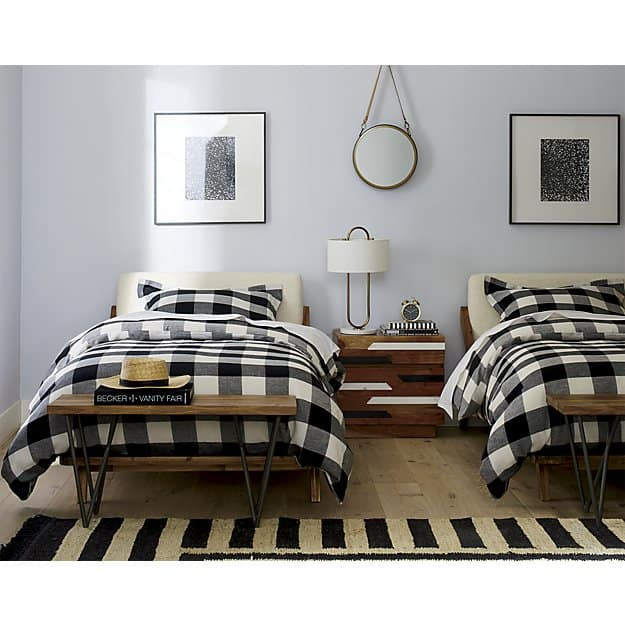 Love this buffalo plaid bedding -- it's at a great price too!