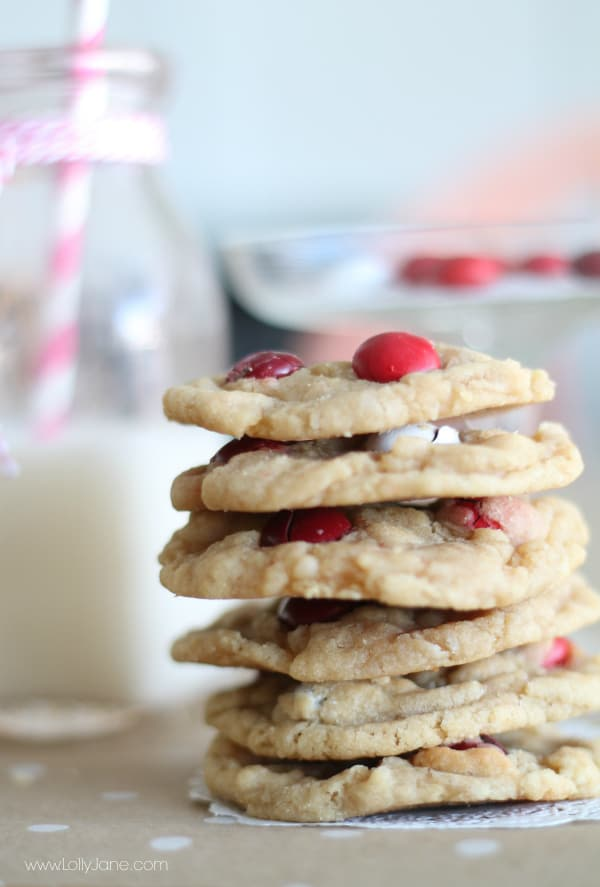 Yummy red velvet M7M cookies! Yes please!