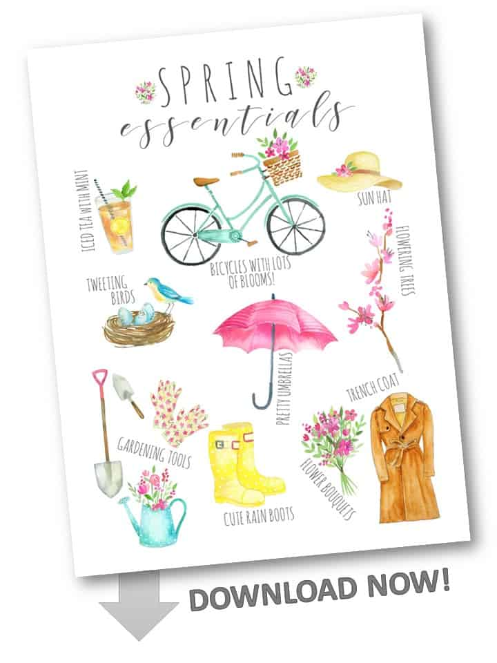 Download a free Spring Essentials printable!