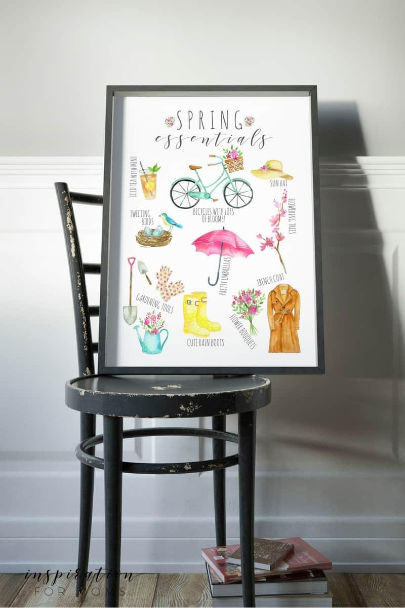 Spring Essentials printable free