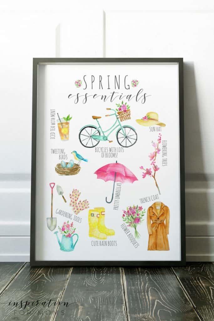 Best of Spring Essentials Printable  free download