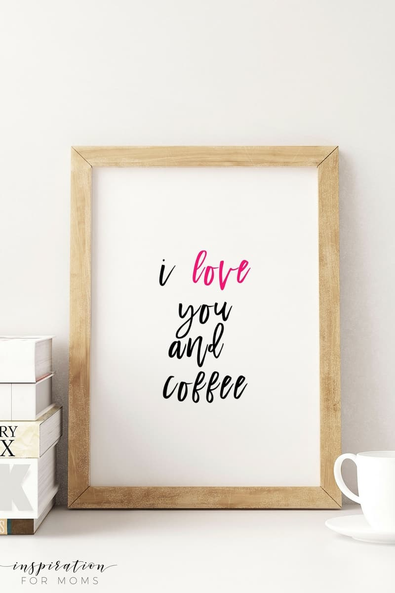 """""""Do small things with great love."""" These Valentine's Day printables are perfect for sharing the love throughout your home. Print all three for FREE!"""