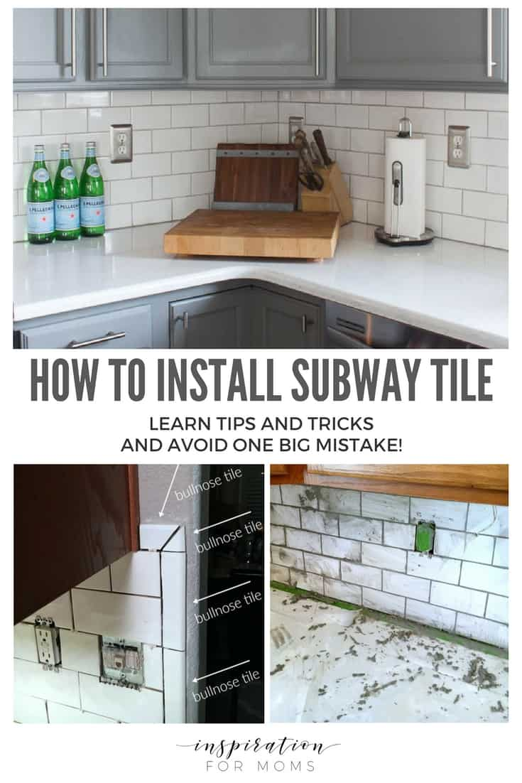 How to install subway tile in the kitchen - great tips and tricks!