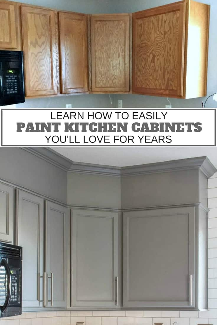 Learn how to easily paint kitchen cabinets you'll love for years!