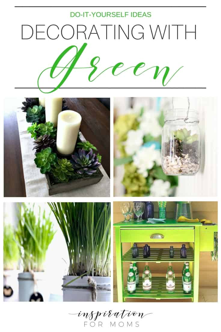 Spring is all about the green! Discover creative do-it-yourself ideas for decorating with green.
