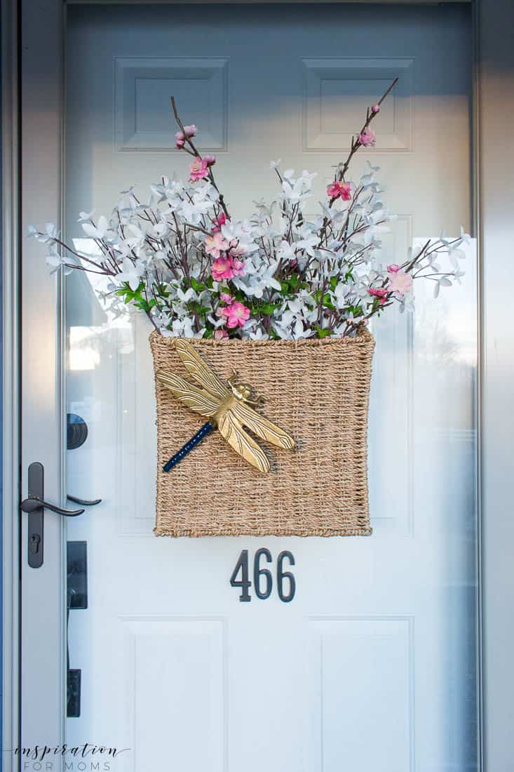 five easy tips to get your front porch spring ready wall basket dragonfly