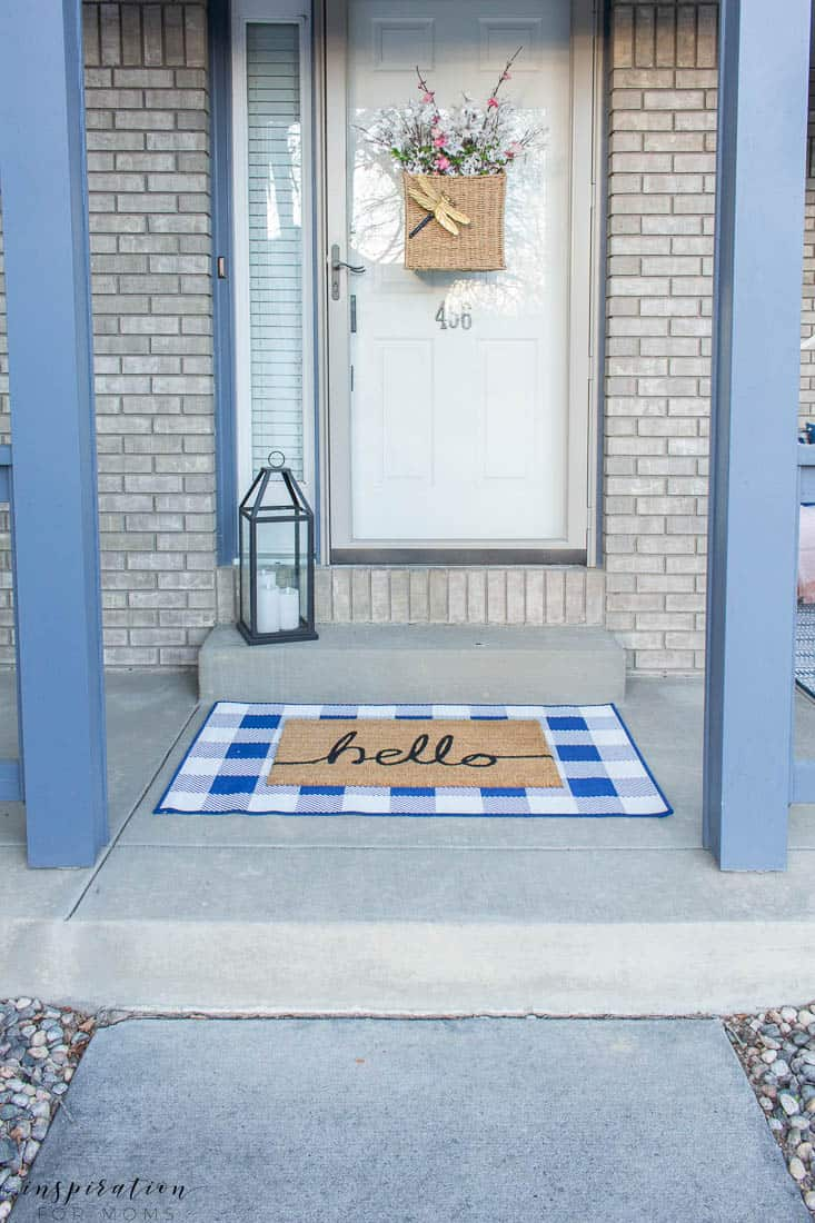 five easy tips to get your front porch spring ready buffalo check door rug mat