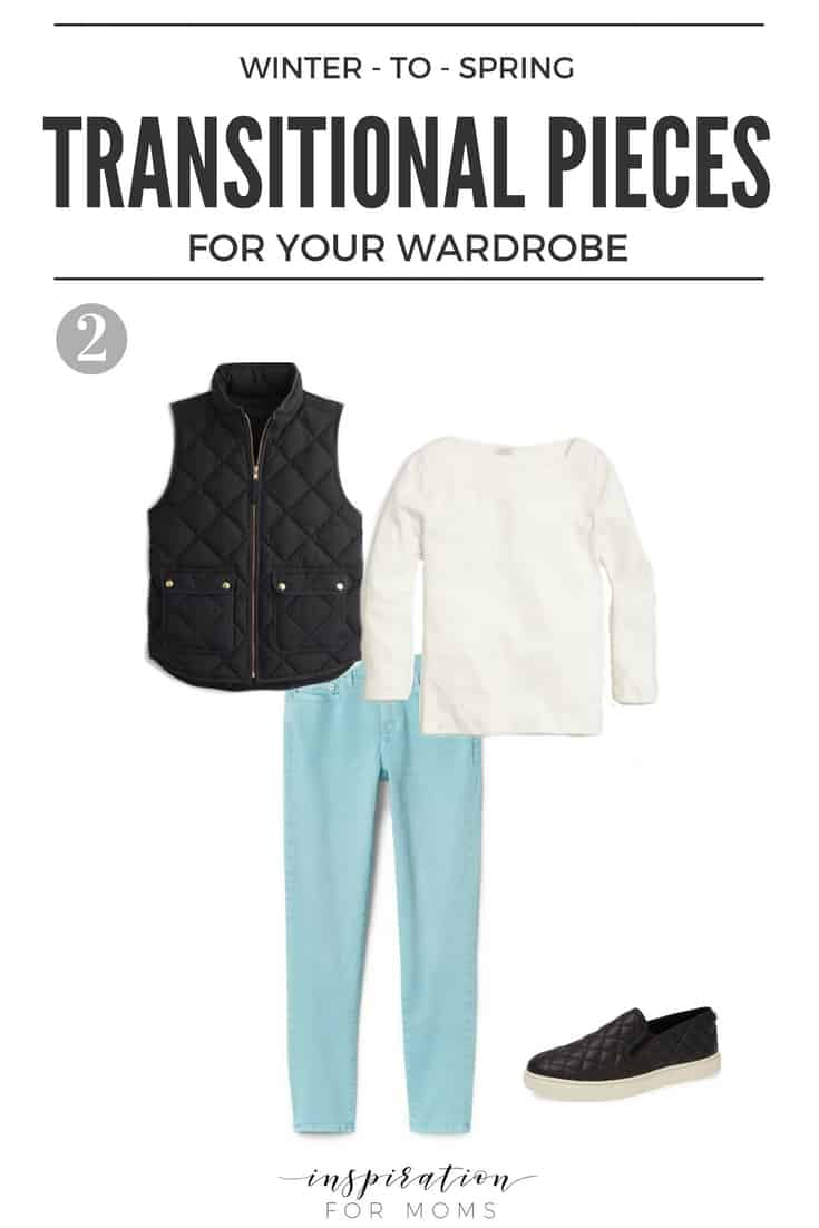 A great collection of Winter to Spring transitional pieces for your wardrobe that you totally need! #spring #transitional #wardrobe