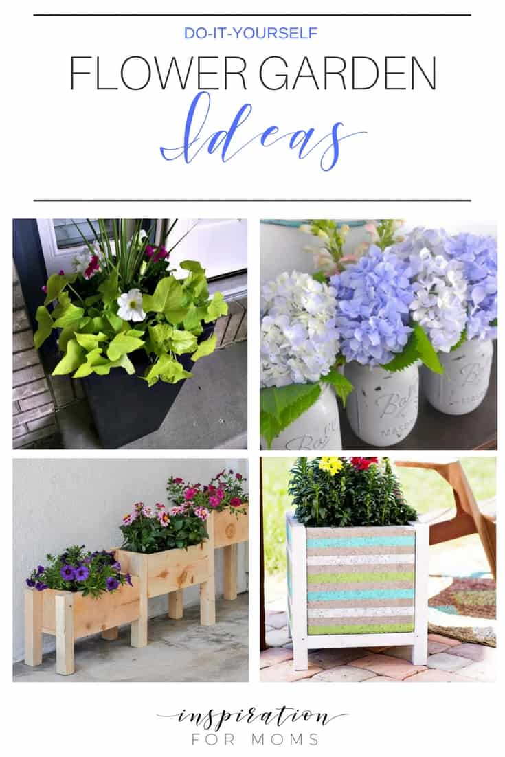 I have a great selection of DIY flower garden ideas that are sure to add tons of color to your outdoors!