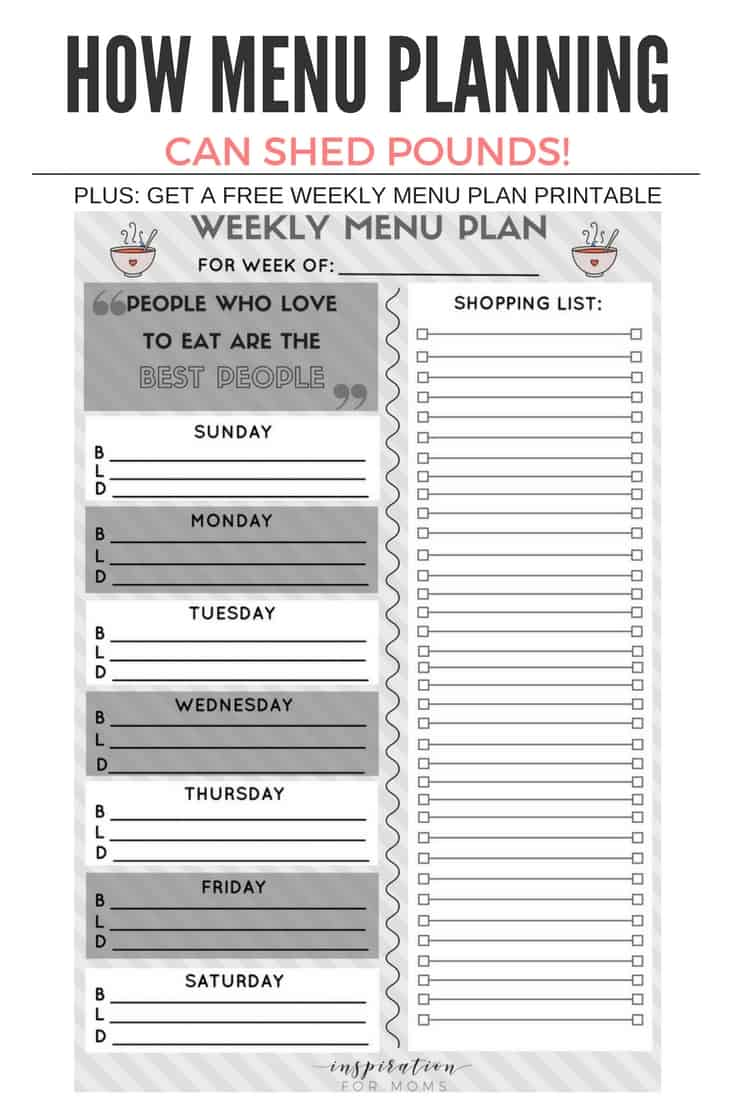 Better food choices means more success on the scale. Learn how doing weekly menu planning can help you lose weight and eat healthier effortlessly.