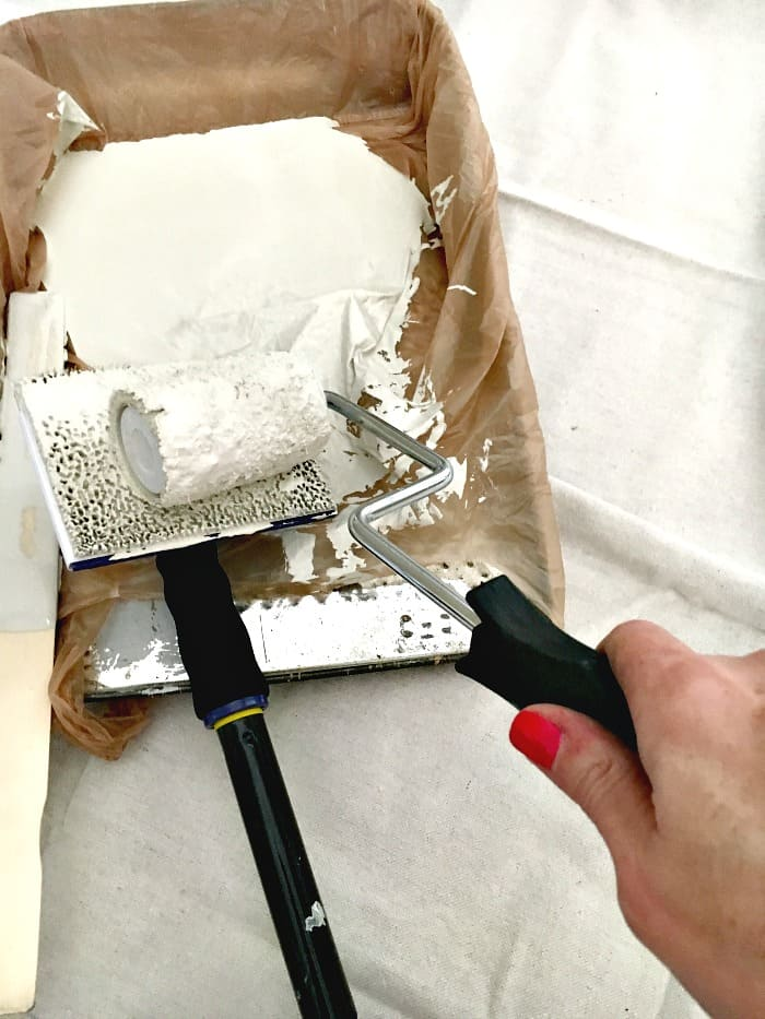 the easiest way to paint tall walls