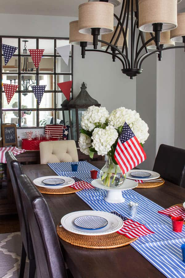 How to create a patriotic tablescape on a budget and other patriotic decor ideas!