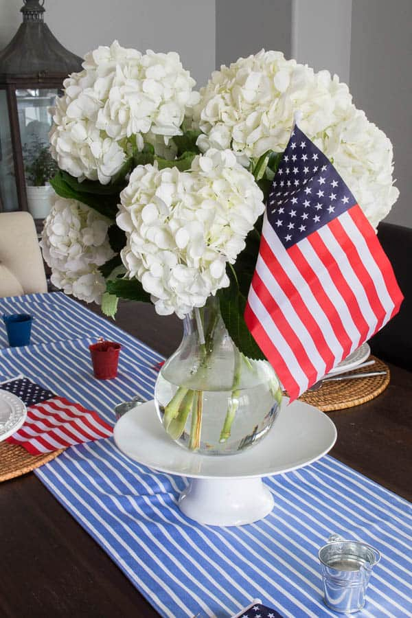 How to create a patriotic tablescape on a budget and other great patriotic decor ideas.