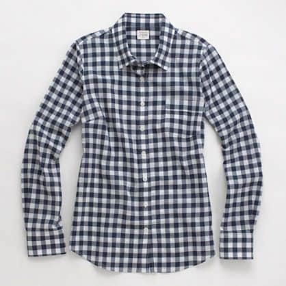 gingham buttoned-down shirt -- so cute for summer!