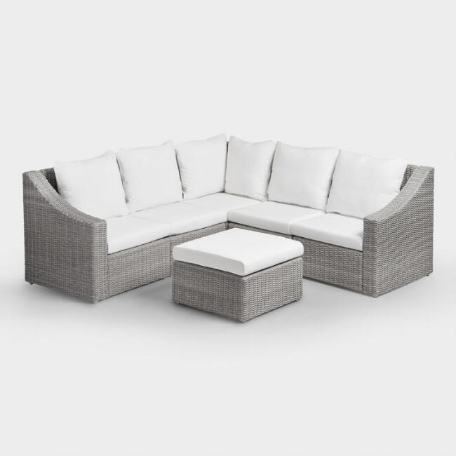 Love this gray veracruz outdoor sectional - perfect for the patio!
