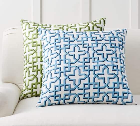 Shadow Trellis Pillow - great for summer outdoor decor!