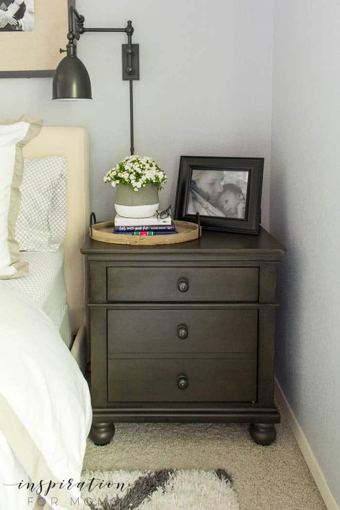 summer home tour master bedroom gray neutral decor