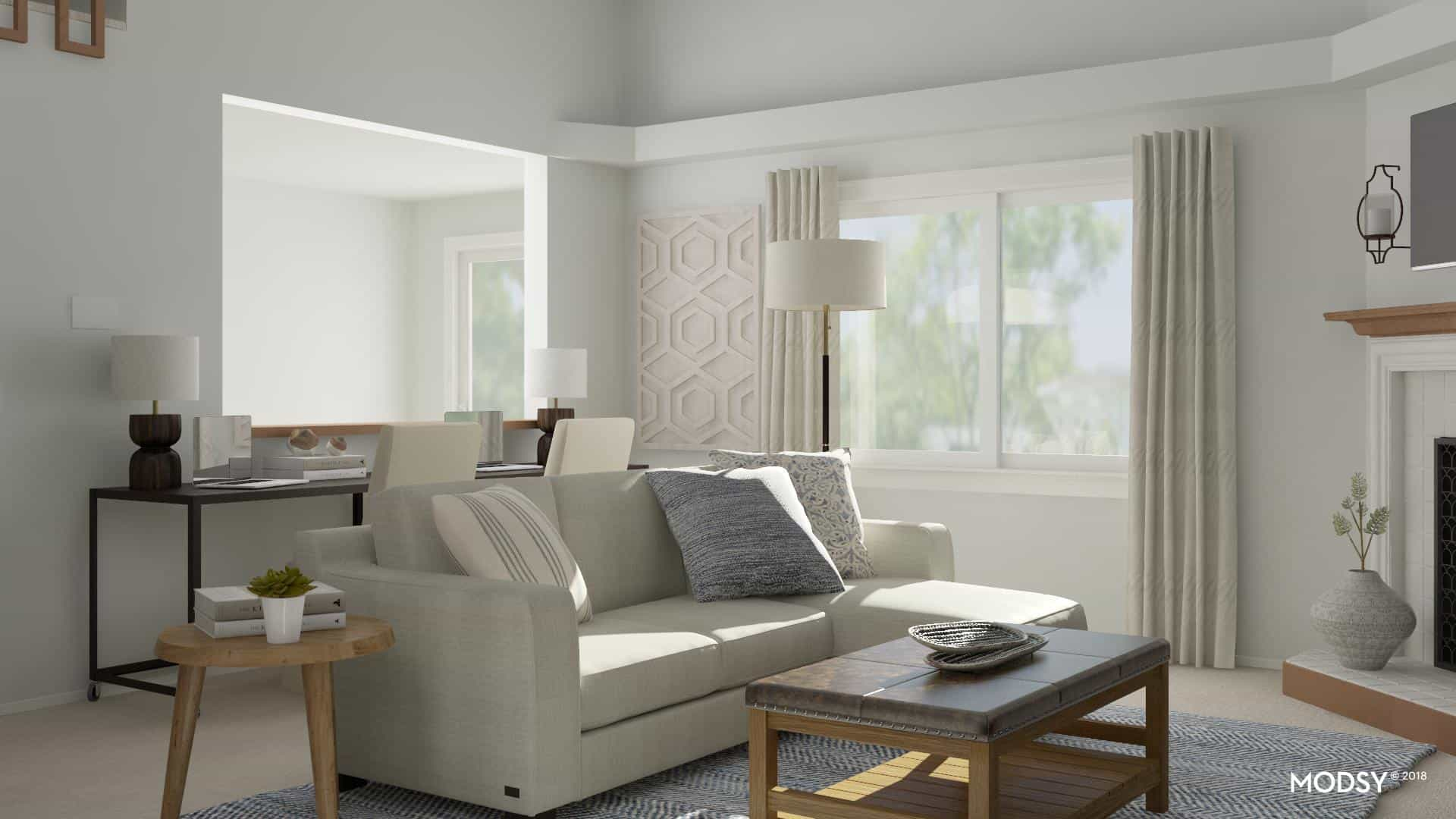 Get the confidence to decorate any room in your home -- no matter how challenging. See how a challenging living room get a whole new design perspective!