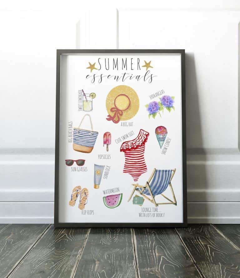 Celebrate Summer – Free Summer Essentials Printable