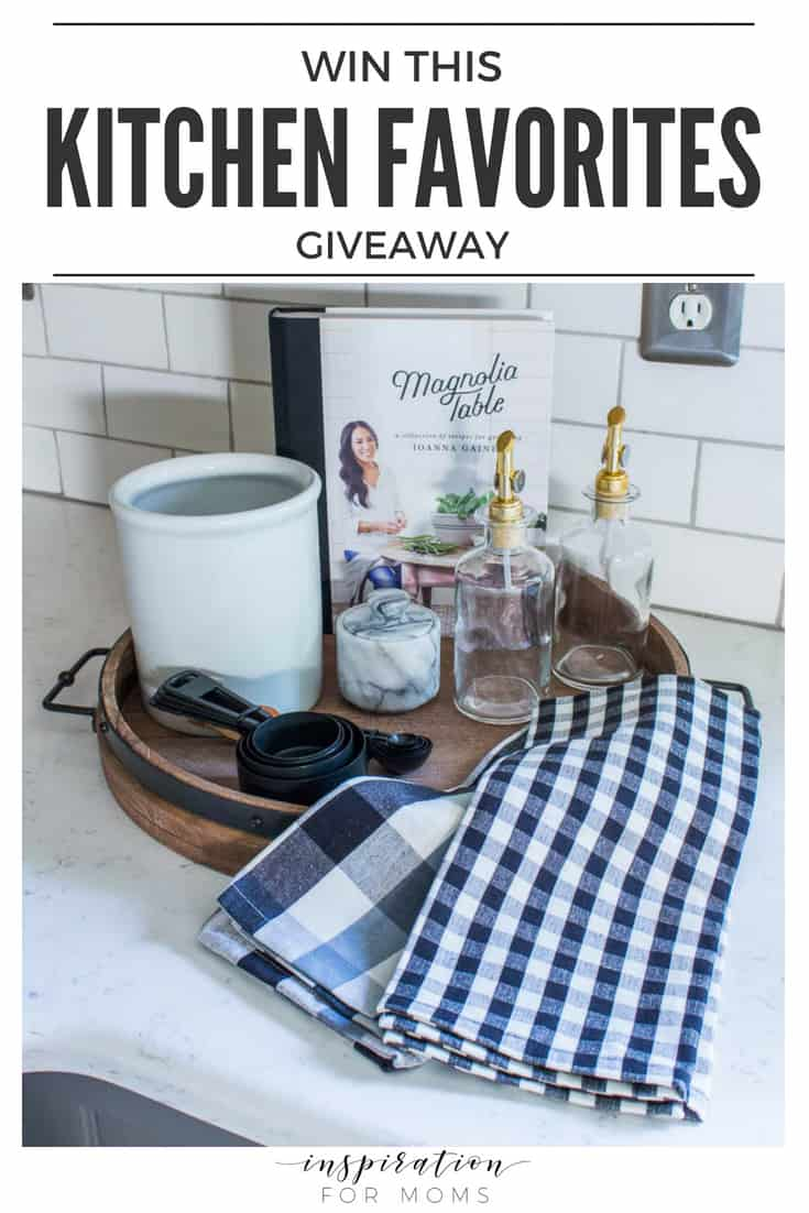Win everything you see here in this kitchen favorites giveaway and make you and your kitchen very happy! Click for more details!