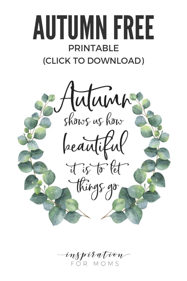 Let Things Go — Autumn Free Printable