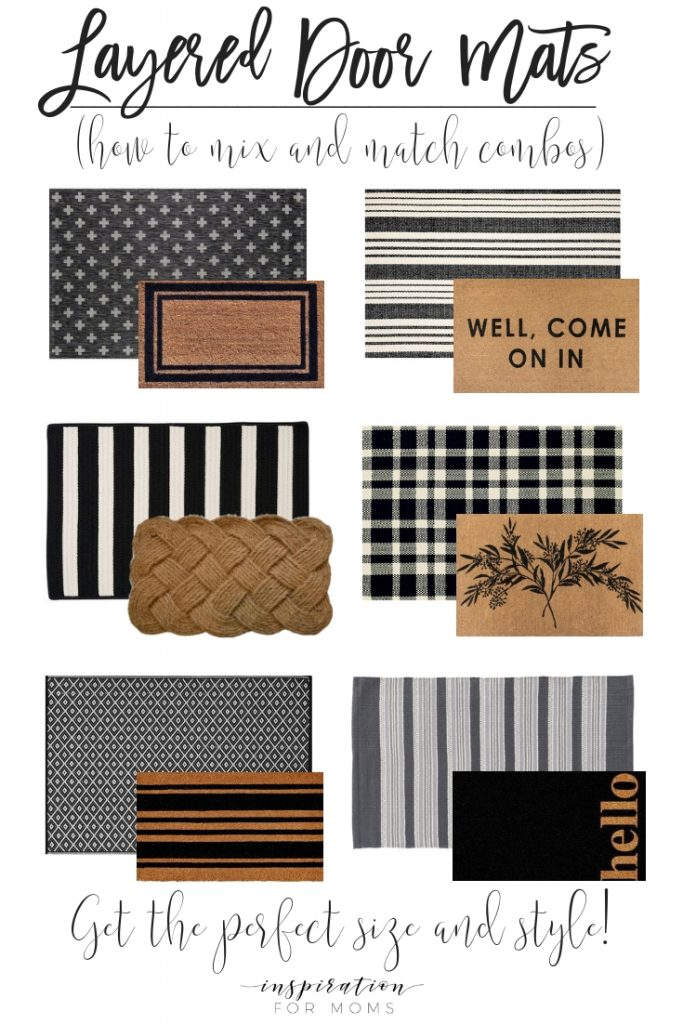 Give your front door a stylish new look by simply adding a few layered door mats. Get all the inspiration you need to get the best layered mat combination.