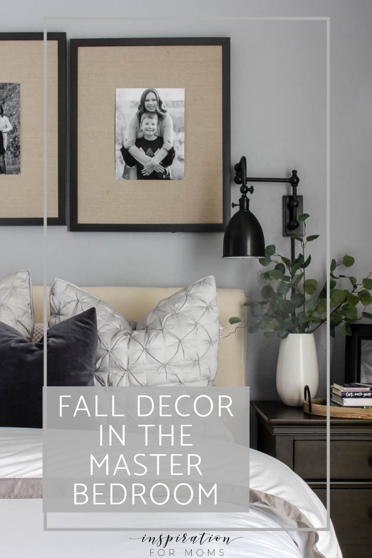 Create a cozy fall master bedroom by adding just a few simple elements to your decor.