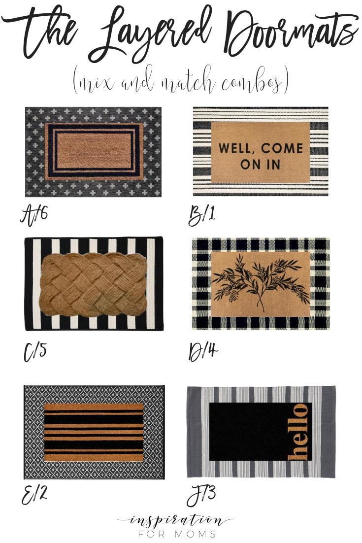Layered Doormats - Mix and Match