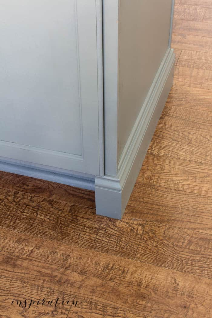 how to add molding to cabinets - finished look
