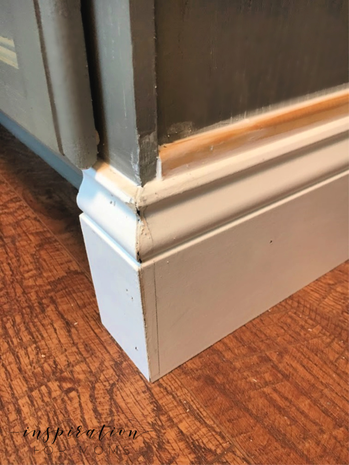 how to add molding to cabinets -- caulking