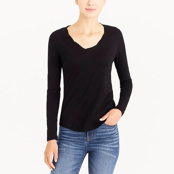Long Sleeve Twisted Tee Shirt - great for layering in the fall!