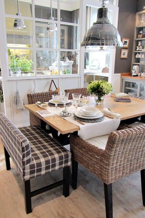 plaid kitchen bench - affordable decor pieces