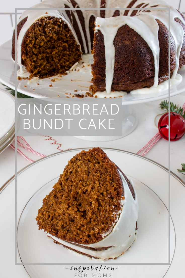 Impress friends and family with this simple gingerbread bundt cake topped with a sweet eggnog glaze. Perfect for holiday gatherings!