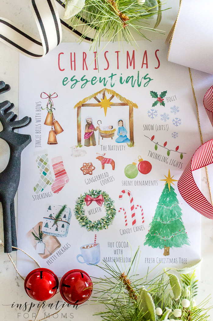 Christmas Essentials Printable - click here to download!