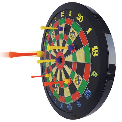 Boys will love this magnetic dart board!