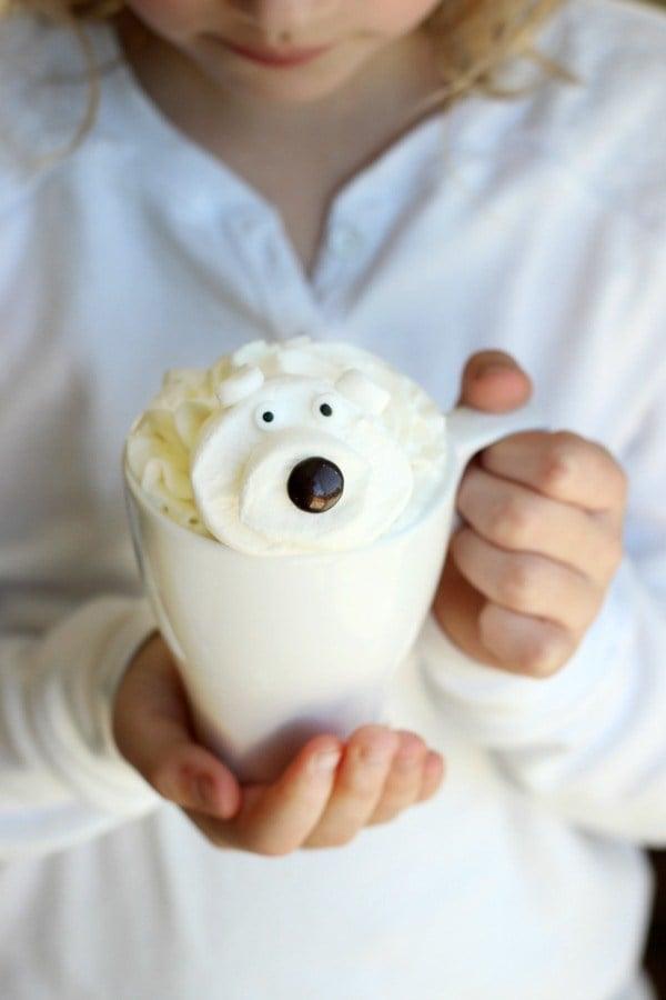 polar bear white hot chocolate