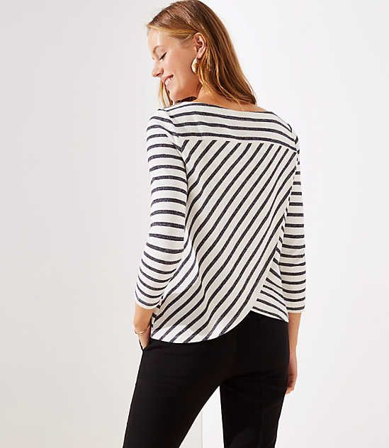 Love this cute striped tulip back top! Can you believe it's a sweatshirt?! So cute!