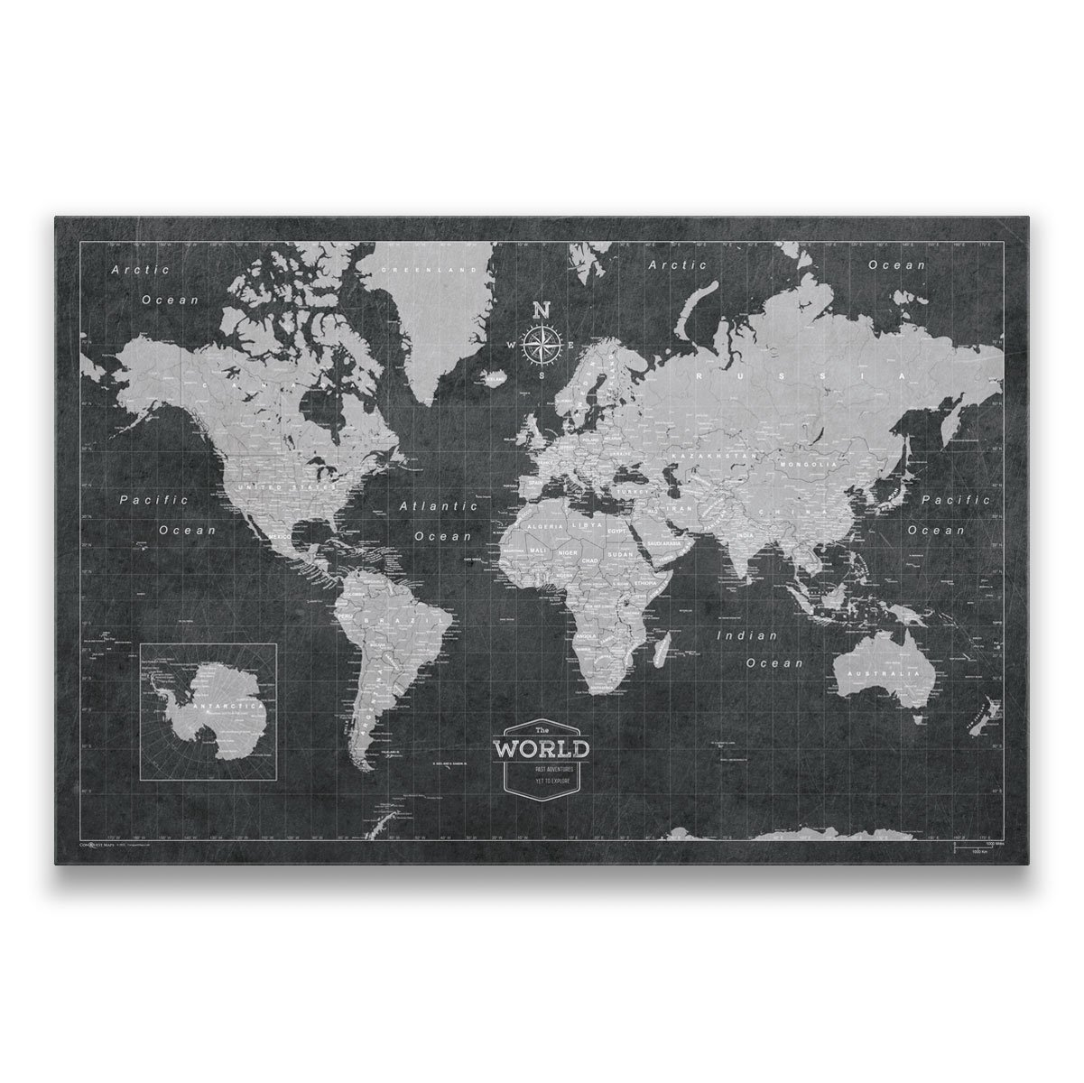 Perfect gift for the travelers, corkboard map to track all the adventures.
