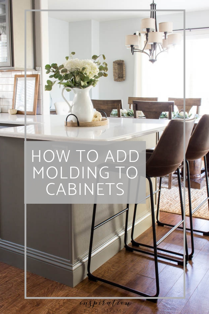 How to Add Molding to Cabinets For a Gorgeous Finish