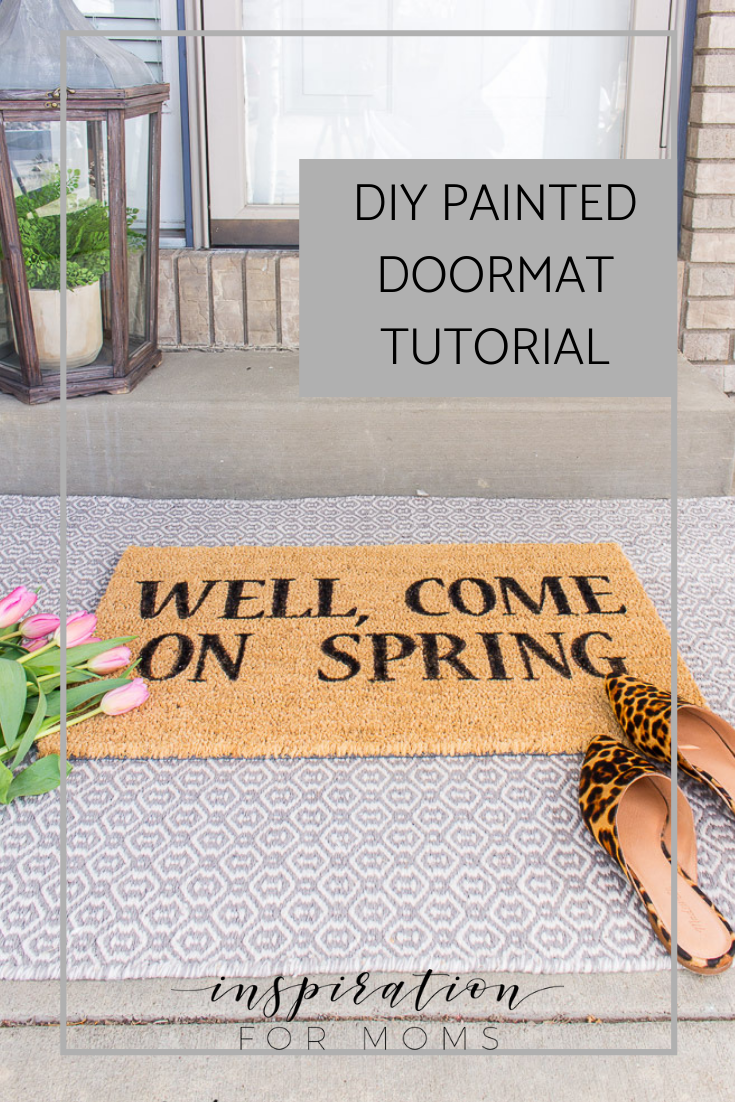 How To Make a Springy Painted Doormat Tutorial