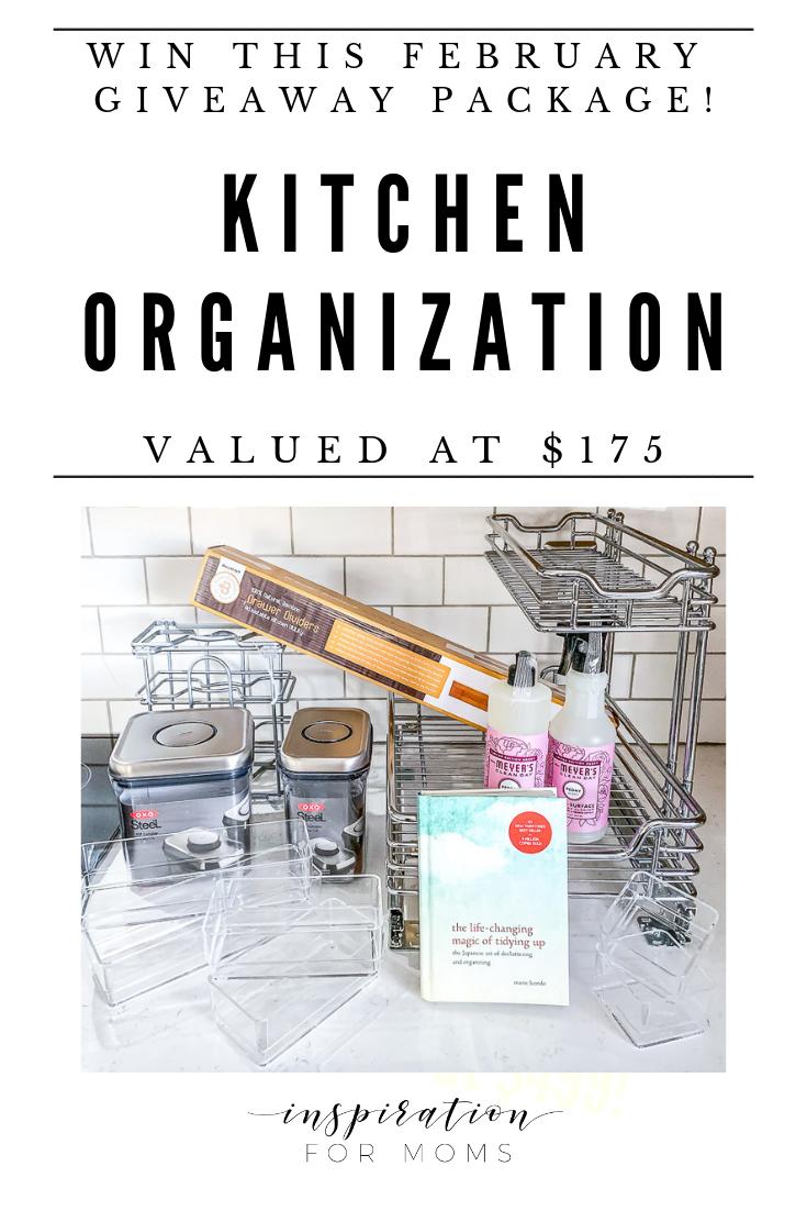February Organizing Kitchen Giveaway