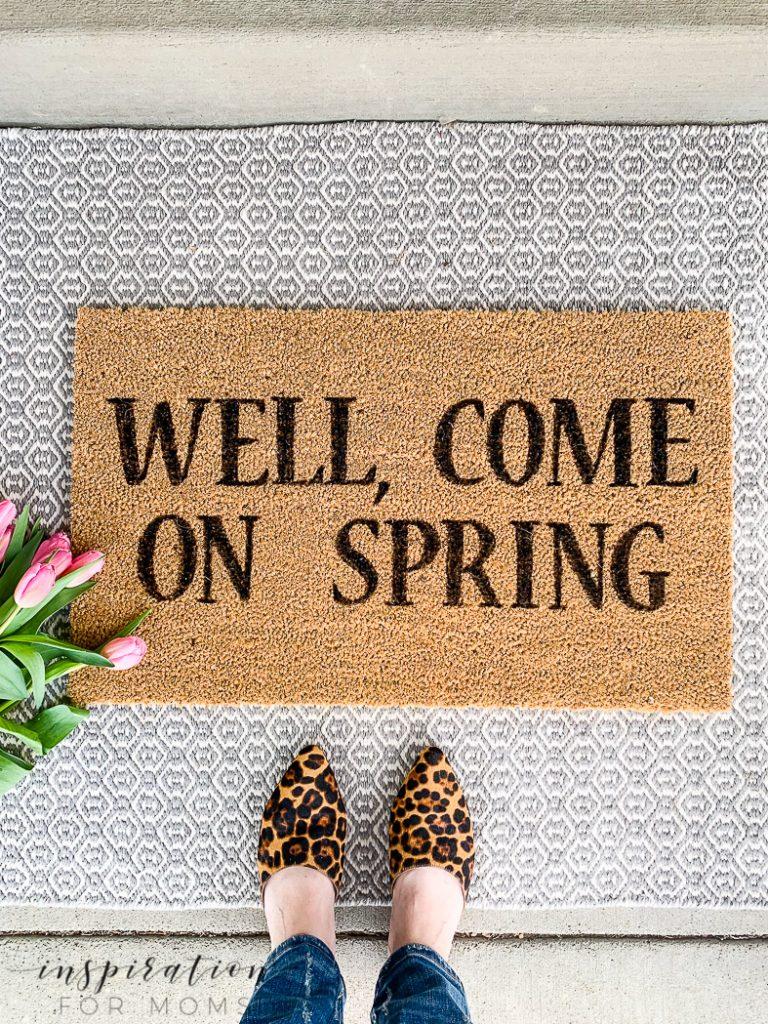 painted spring doormat tutorial