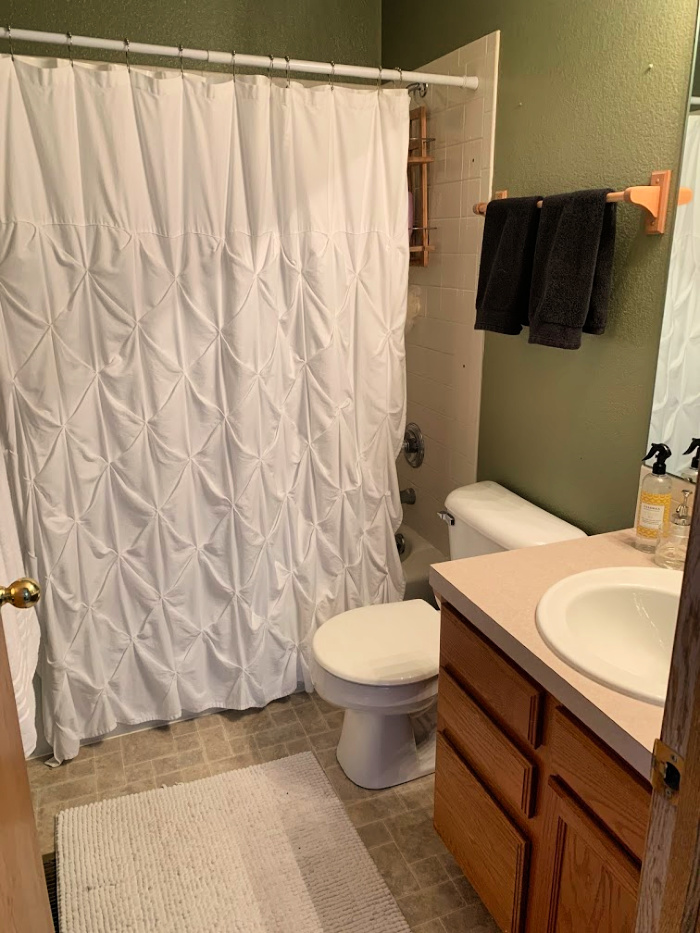 hall bathroom renovation before