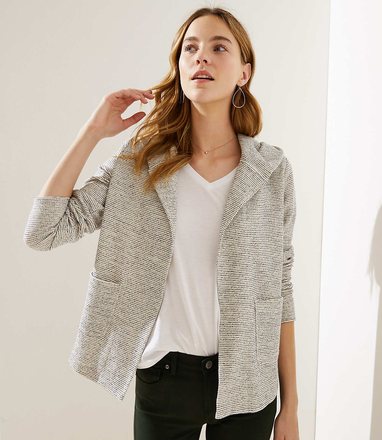striped open hoodie jacket - so cute for winter or spring