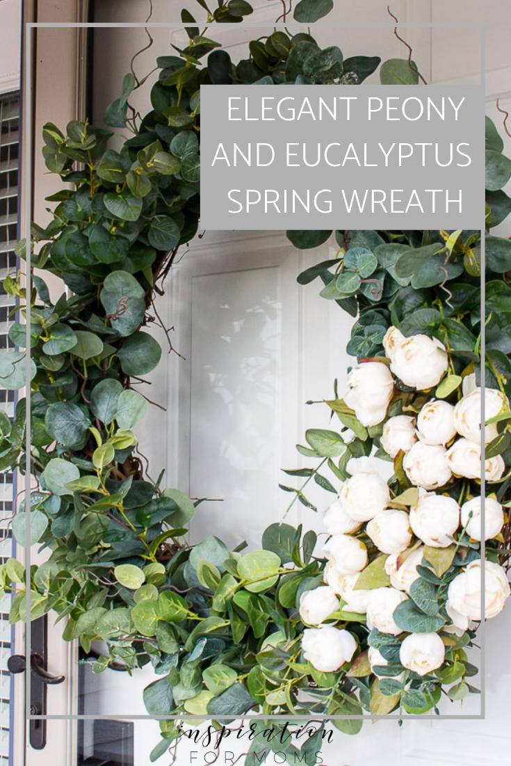 elegant peony and eucalyptus spring wreath tutorial