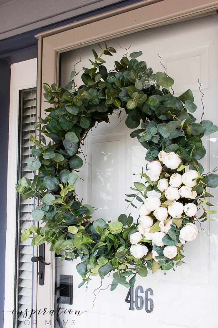 How to Make an Elegant Peony Eucalyptus Spring Wreath